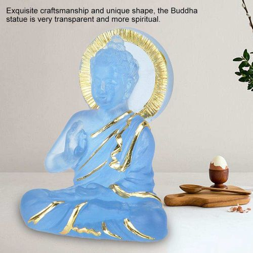 Buddha Statue Popular Chinese Style Transparent Resin Decorative Figurine On Wine Cabinet For Housewarming Ornament