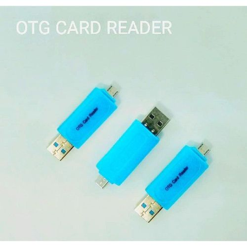 OTG Card Reader For Android Smartphones (microSD/SD / USB-blue,white