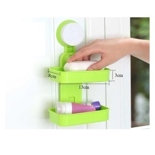 Double Soap Holder/Box -2 Layers Wall Mounted