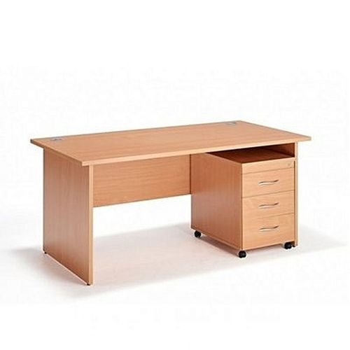 Table With Mobile Pedestals -5Feet ( DELIVERY WITHIN LAGOS ONLY )
