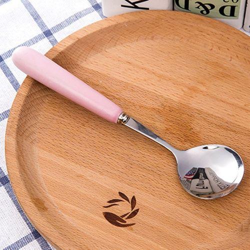 Cute Small Stainless Steel Spoon Fork Cutlery Set For Kids Feeding Utensil