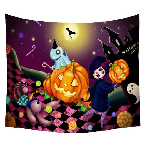 Halloween Beach Cover Up Tunic Tapestry Wallhaning Roomdorm Home Decor 150*120