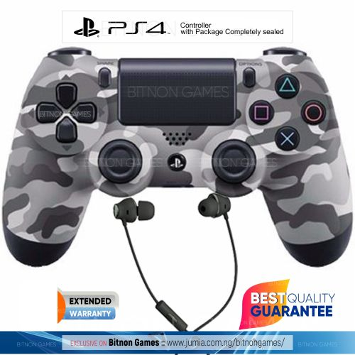 PS4 Controller - Official Pad With Warranty + Gaming Headset - Army
