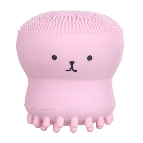 Portable Cute Octopus Shape Silicone Wash Brush Manual Face Cleanser Bubbler
