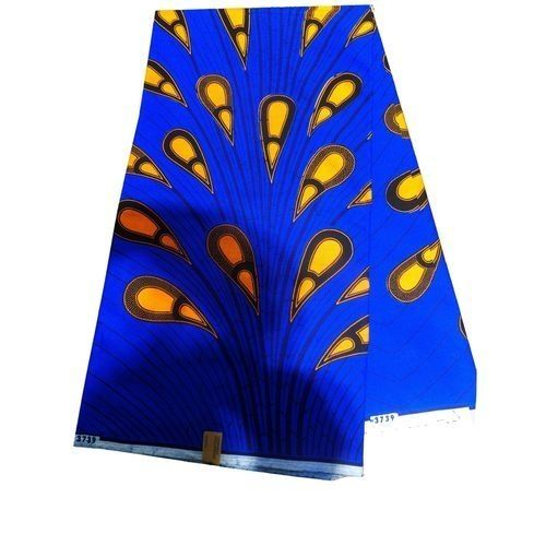 Wax With Blue And Yellow Design