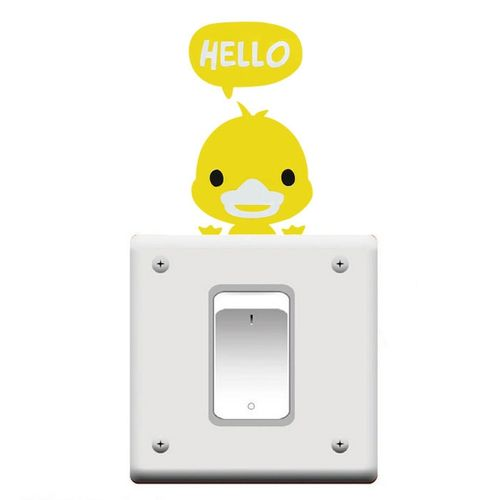 Room Wall Decorating Switch Vinyl Decal Sticker Decor Cartoon Yellow