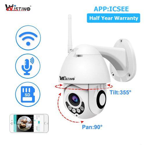 Wistino CCTV Camera 1080P Wifi IP Camera Outdoor Two Way Audio PTZ Night Vision IR 30M Wireless Security Speed Dome Camera P2P