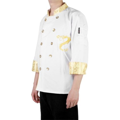 Chinese Style Chef's Uniform Jacket Chef Jacket Restaurant Hotel Cook Suit Long Sleeve Chef Coat Service Uniform Coat