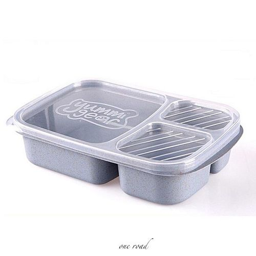 1 Pc Wheat Straw Lunch Box Storage Container Biodegradable Lunch Box