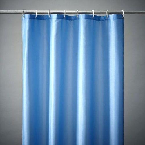 Antifungal Cotton Shower Curtain (Blue)