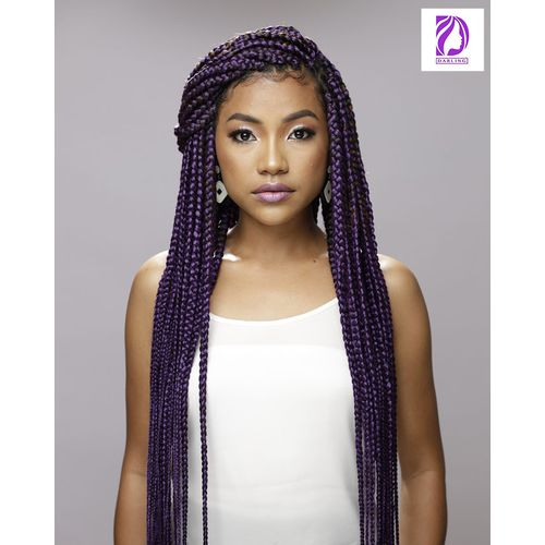 Super Star Braids Hair Extensions - Purple (2 Packs)