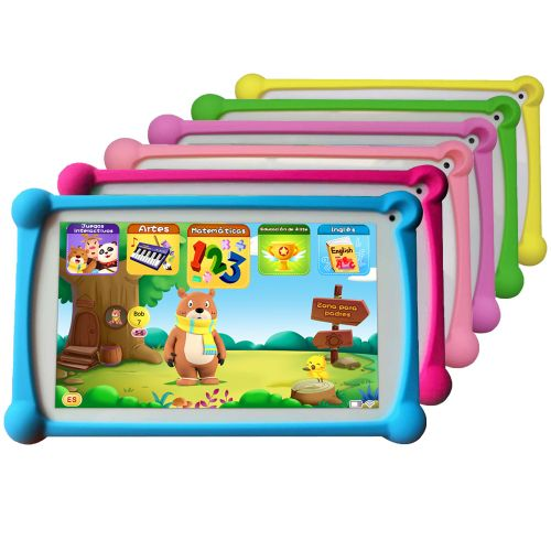 """Kids Tablet, 120+ Spanish&English Apps, 7"""", 1+8G Android"""
