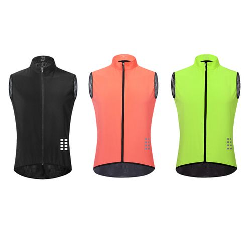3x Breathable Cycling Sleeveless Vest Reflective Quick Dry Waistcoat L