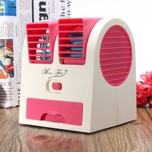 Mini Air Conditioner USB Fan Cooling Portable-Pink