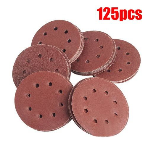 125MM 8 Holes Hook Loop Sanding Discs Orbit Sandpaper Mat