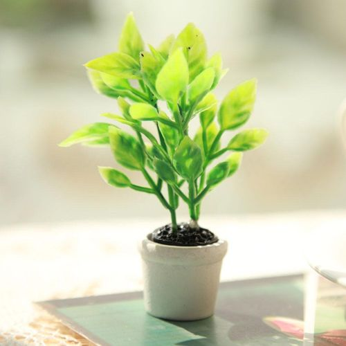 Home Artificial Miniature Green Plant Bonsai Potted Plant Garden Decor Accessory