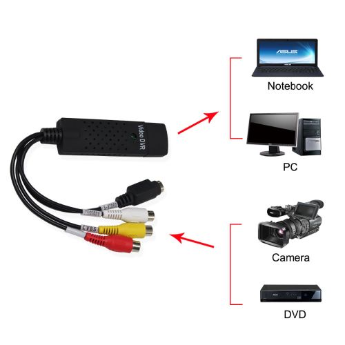 Free Shipping USB 2.0 Easycap Capture 4 Channel Video TV DVD Audio Capture Adapter Card DVR For Win7/8/10/XP/Vista LANGG