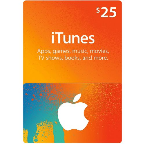Apple ITunes 25 USD Apple Store Credit / Prepaid Card