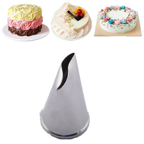 Rose Flower Icing Piping Nozzles 3Pcs/Set Stainless Steel Cake Decorating