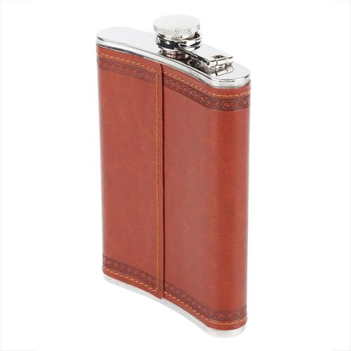 5 Ounces Stainless Steel Stees Pocket Hip Flask, Leek, Very Handy Slightly Portable For Drinking Alcohol Whiskey Rum Vodka