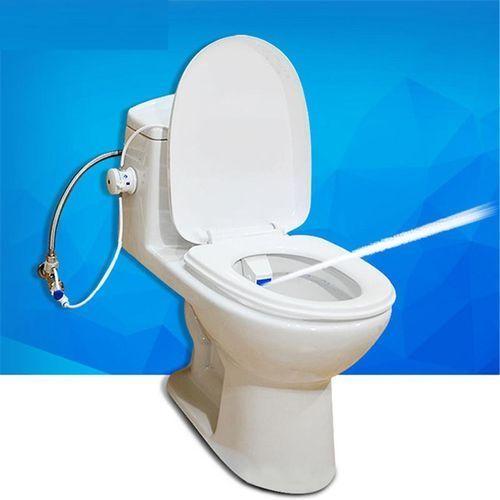 ABS White Bathroom Smart Toilet Bidet Non Electric Washlet Sprayer Cold Water