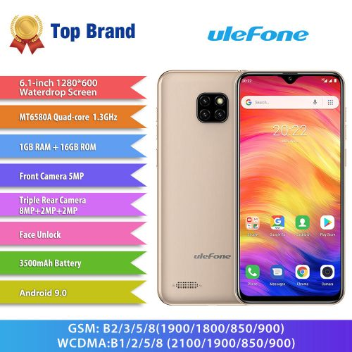 "Note 7 Triple Rear Camera 6.1"" 1GB RAM 16GB ROM Quad Core 3G Smartphone Other Area Verion"