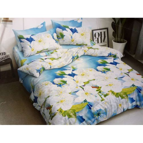 Cool Floral Bedsheet With Pillow Cases And Duvet