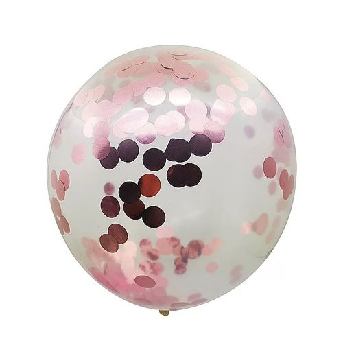 20pcs Confetti Balloon 12inch 2.8g/pcs Sequin Balloon-pink