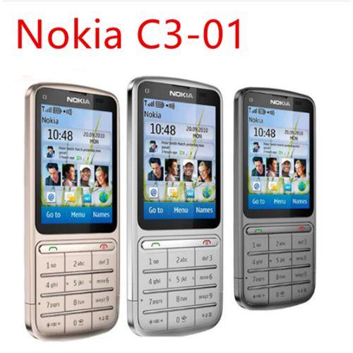"Nokia C3-01 Mobile Phone 3G WIFI Bluetooth 5MP 2.4 "" Phone"