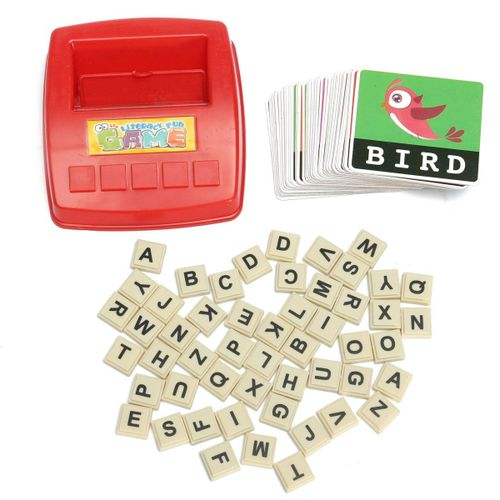 Kid Children Figure Spelling Game Platter Puzzle Spell Words Early Learning Toys