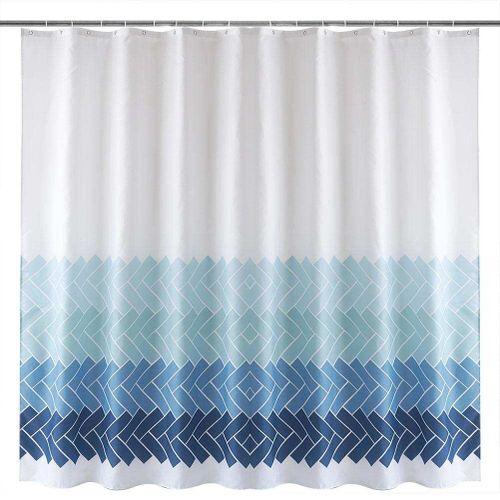 Bath Shower Curtain Waterproof Mildew Proof Bathroom Curtain With Hanging Hooks