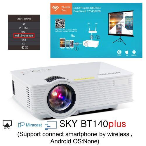 BYINTEK SKY BT140 Mini Micro LED Cinema Portable Video HD USB HDMI Projector For Home Theater (Optional Plus/Android Version) QLANA