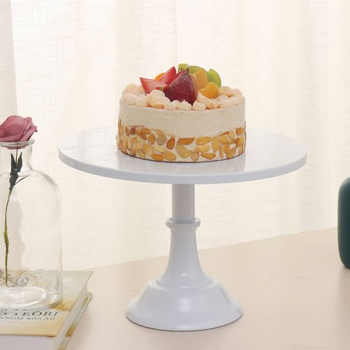 "12"" Iron Round Cake Stand Pedestal Dessert Holder Wedding Birthday Party Decor"