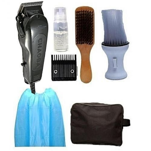 Hair Clipper + Powder Brush + Hair Brush + Apron + Bag