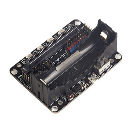 Robot:bit Plug&Play 5V Multi-functional Expansion Board For Micro:bit Black