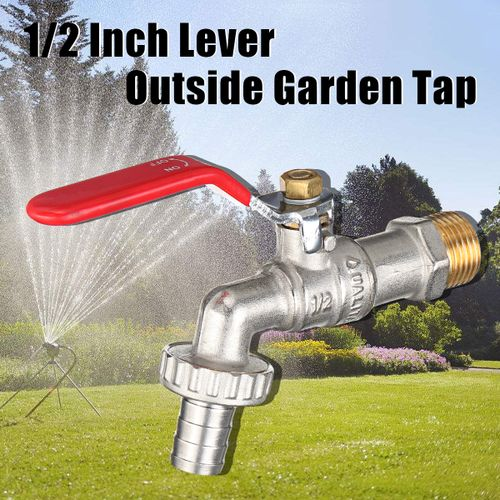 1/2 Inch Lever Outside Quarter Turn Off/ On Manual Long Handle