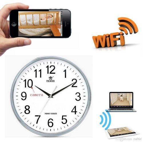 Rechargeable High Definition Wifi Wall Clock Camera