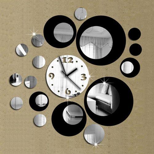 Modern Design DIY 3D Mirror Wall Clock Sticker Removable Wall Watch Art Home Office Decor