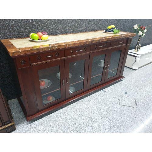 Marble Brown Side Board - 6ft