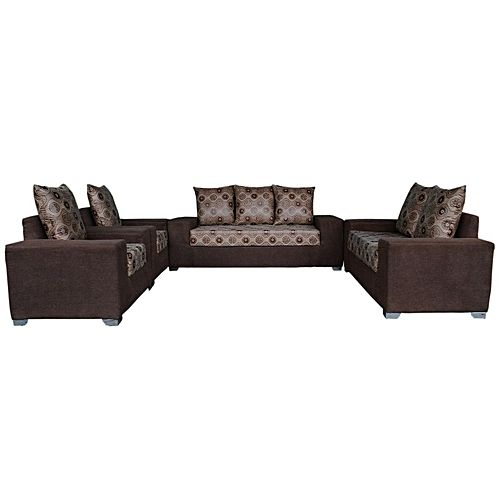 PAWA FURNITURE BROWN 7 Seater Sofa with A FREE OTTOMAN' (Delivery To Lagos Only)