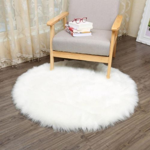 Fluffy Round Fur Rug