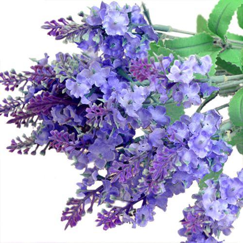 Dtrestocy 2PC Artificial Faux Flower Bush Bouquet Home Wedding Decor