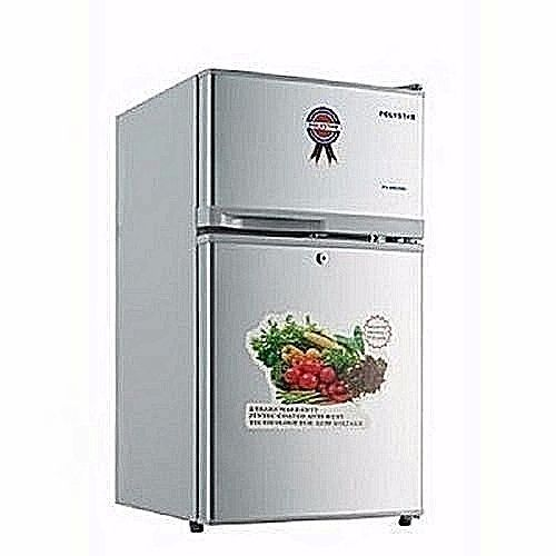 Silver Colored Table Top Double Door Refrigerator SR-138F
