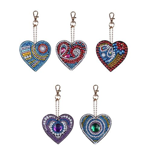 Diamond Painting Keychain Pendant Special Shaped Love Heart