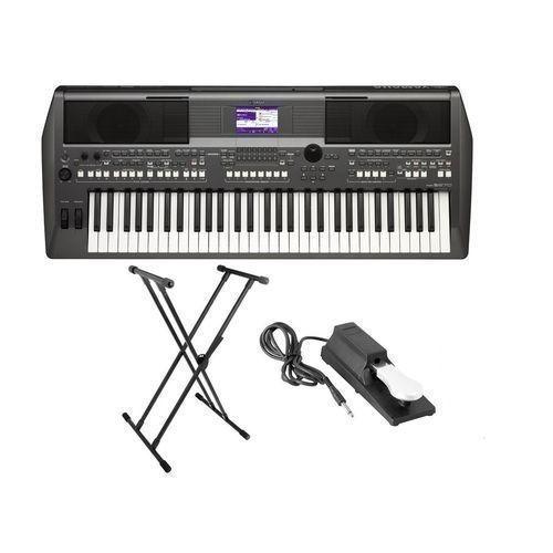 Yamaha PSR-S670 Workstation Keyboard W/Stand, Sustain Pedal