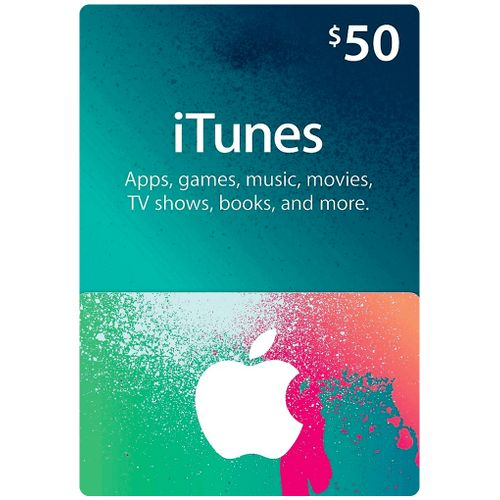 Apple ITunes 50 USD Apple Store Credit / Prepaid Card