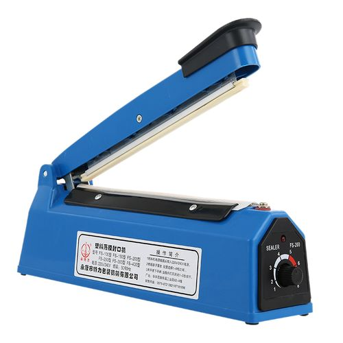 220V 300W 8 Inch Impulse Sealer Heat Sealing Machine Kitchen Food Sealer Vacuum Bag Sealer Plastic Bag Packing Tools Us Plug(Blue)(S)