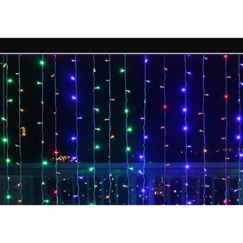Water Fall Light, Curtain Light; Decoration Light Multicolour Christmas Light (10 Drops/Falls 3meters Each)
