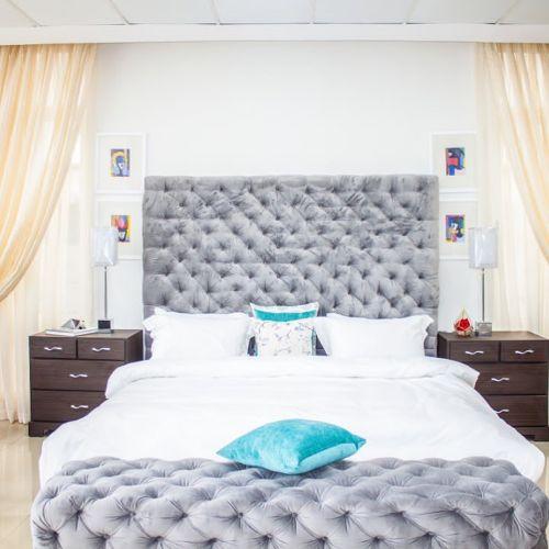Prisca Velvet Full Bedroom Frame