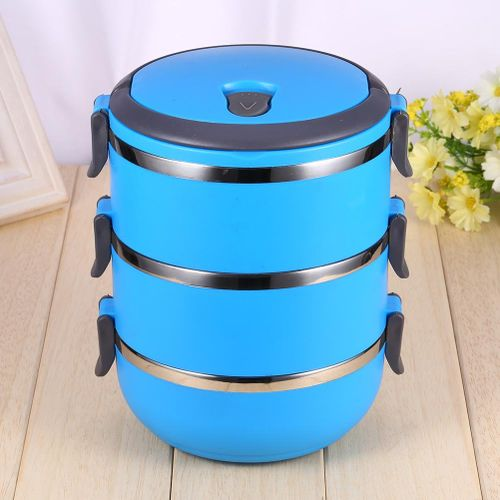 Round 1/2/3/4Layer Durable Stainless Steel Lunch Box Bento Picnic Food Container